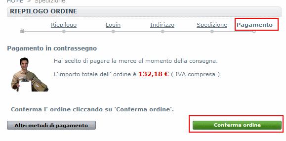 promozione 10 € - conferma ordine