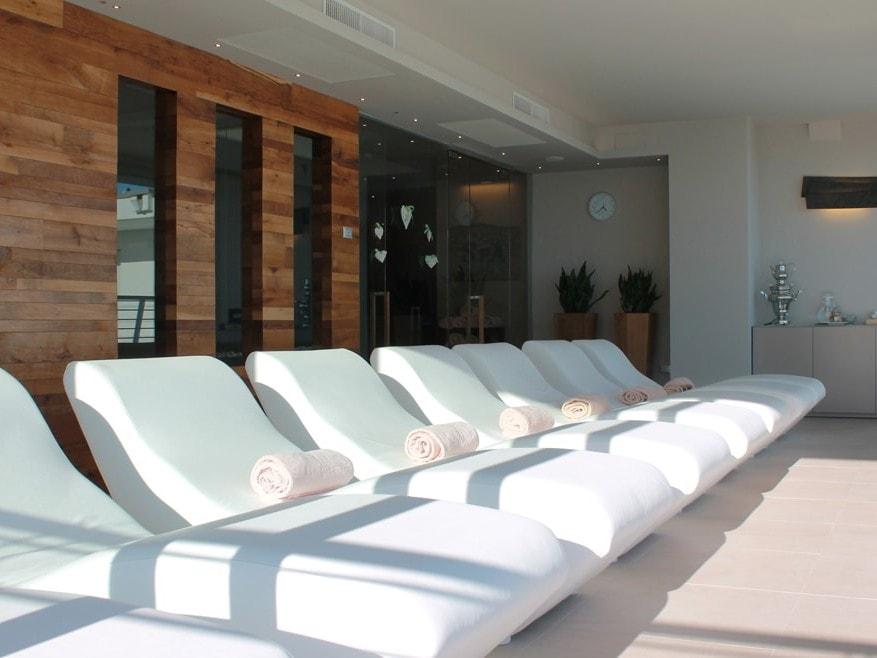 Area relax in un centro benessere