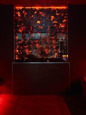 Sauna Con Illuminazione Moderna