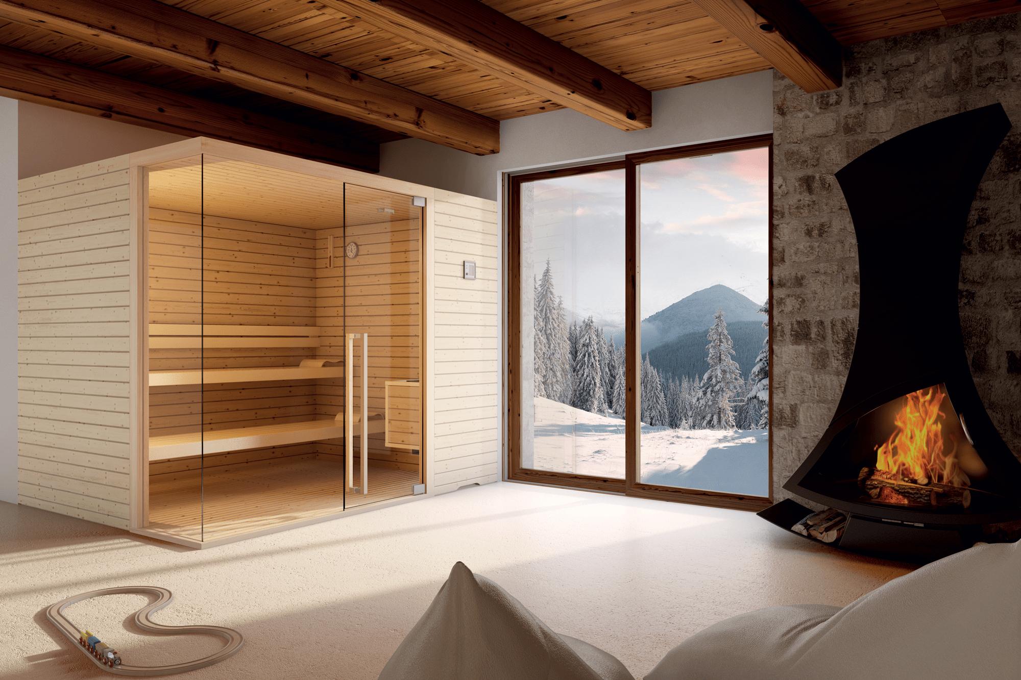 Sauna Elegant Corner