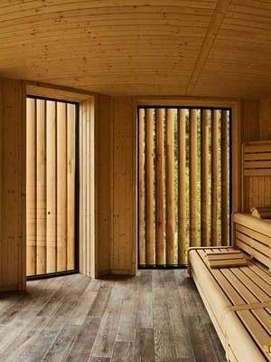 Sauna Nel Bosco Di Alberi
