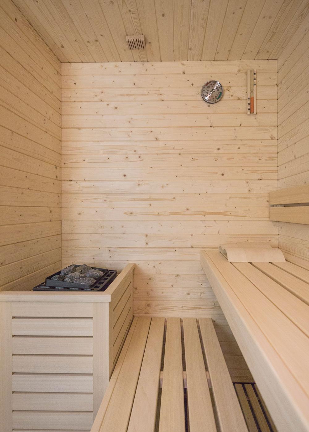 Sauna in legno abete